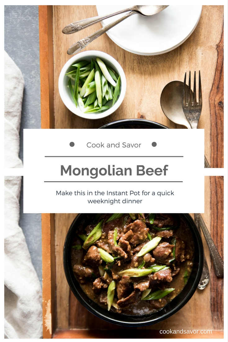 Mongolian Beef - Make this in the Instant Pot for a quick weeknight dinner   cookandsavor.com