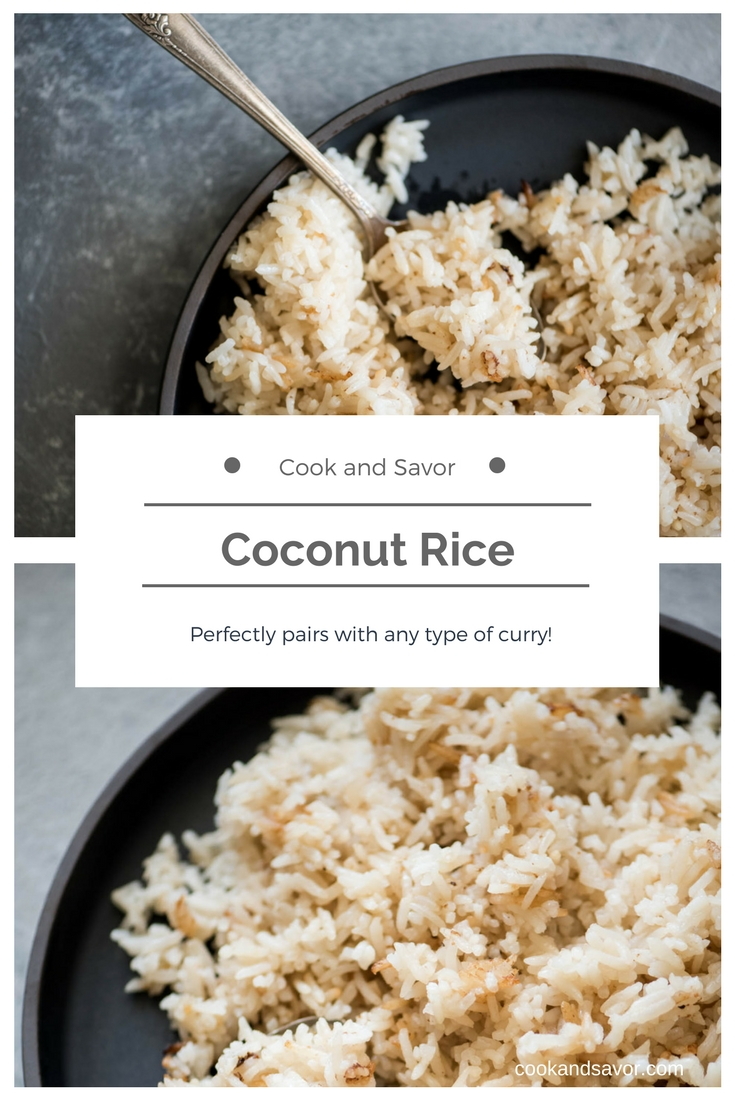 Coconut Rice - perfectly pairs with any type of curry | cookandsavor.com