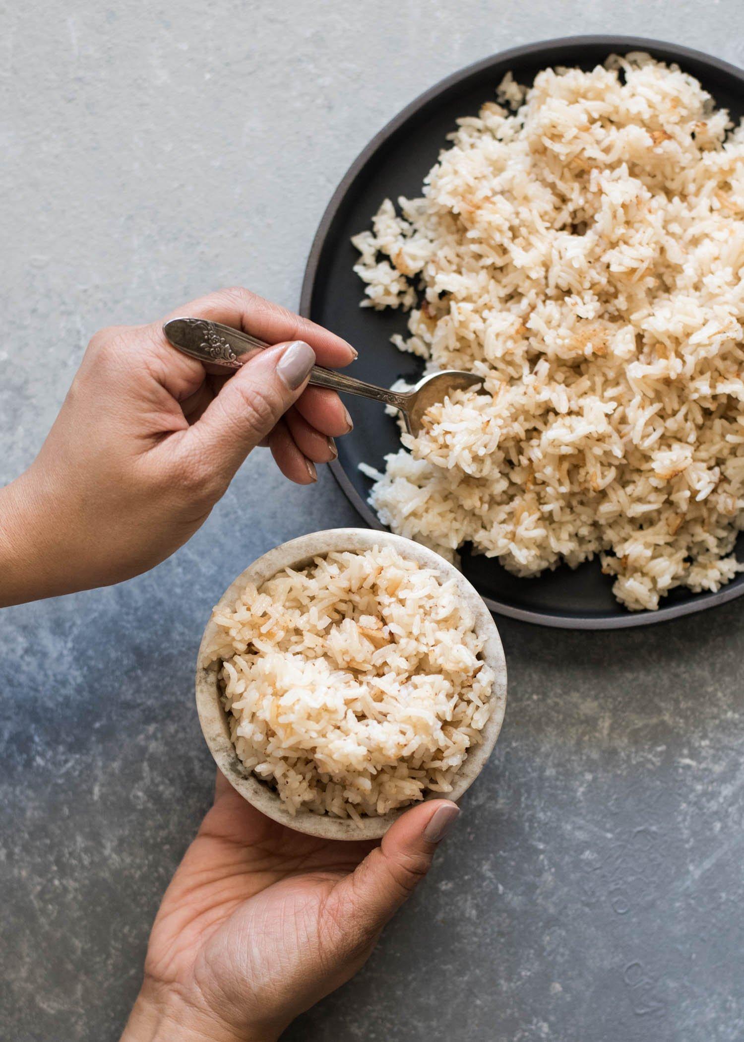 Coconut Rice | cookandsavor.com