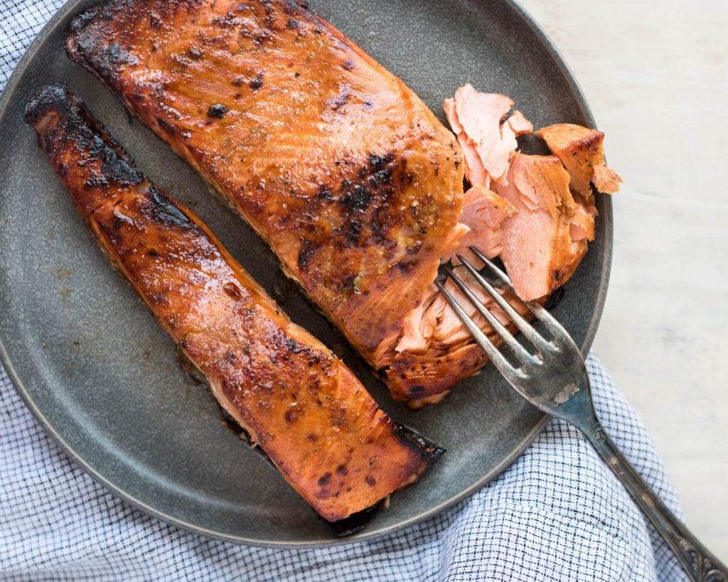 Air Fryer Teriyaki Salmon | cookandsavor.com