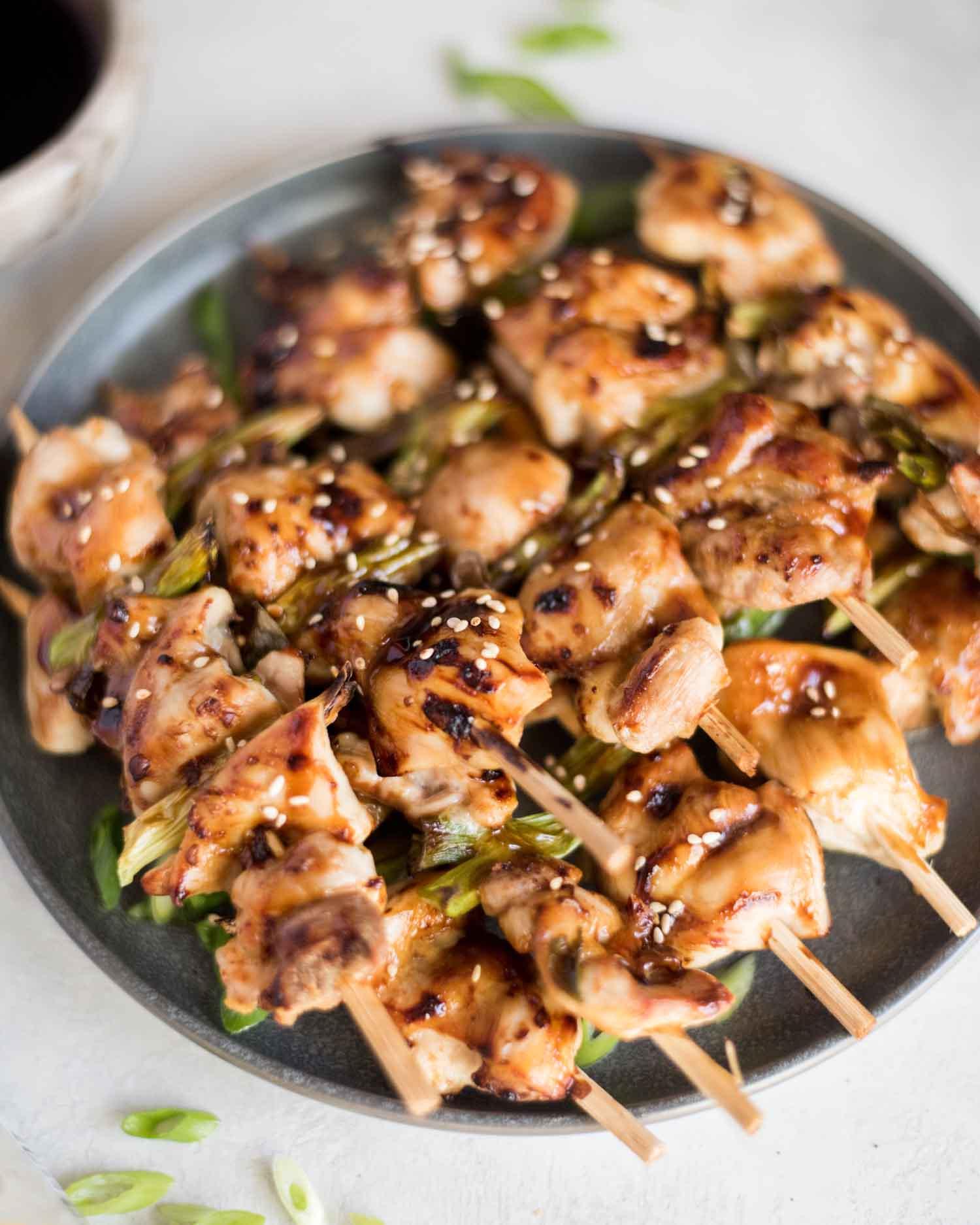 Air Fryer Chicken Yakitori | cookandsavor.com