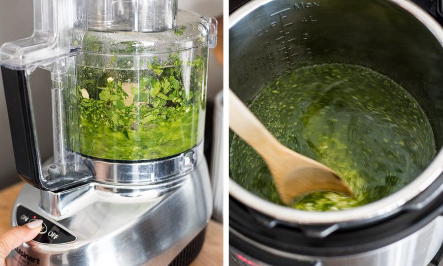 Instant Pot Green Rice | cookandsavor.com